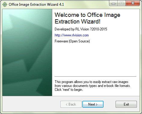 install Office image extraction wizard