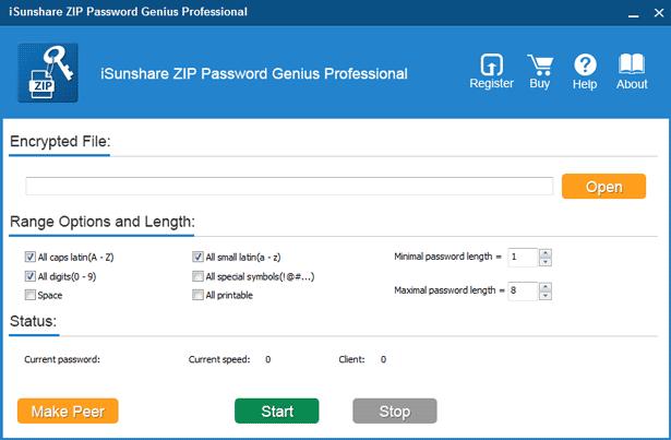 prepare zip password genius professional