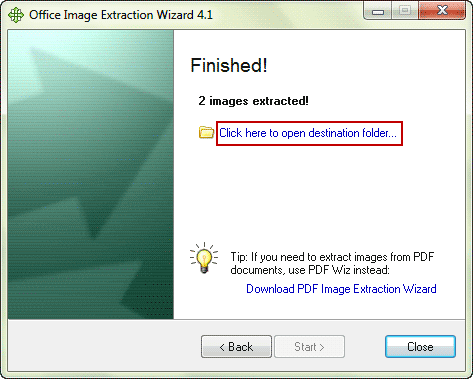 successfully extract images from word document with free software