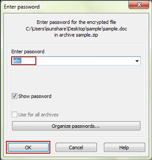 open locked winzip file in winrar