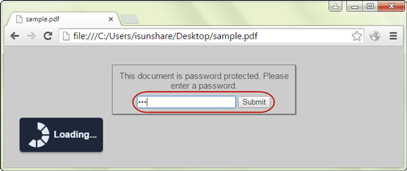 open password protected pdf file in google chrome