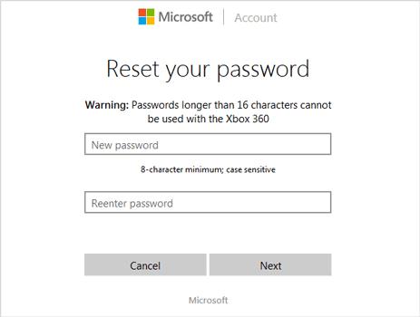 microsoft accountlive.com/password/reset