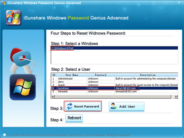 reset dell xps laptop windows 8 Microsoft account password