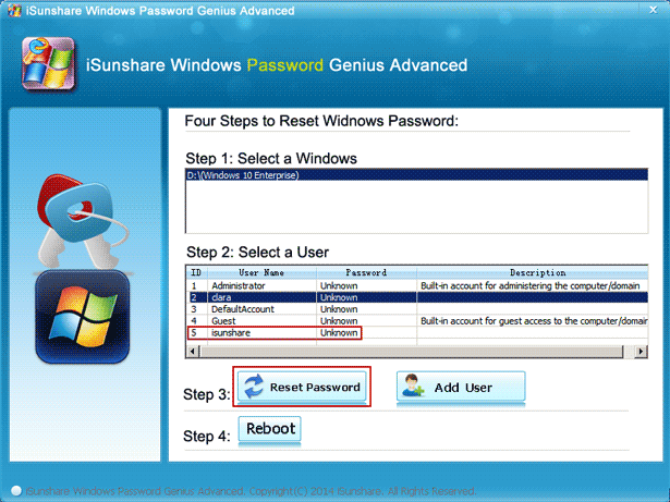 how to see administrator password