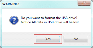 format usb and burn isunshare program