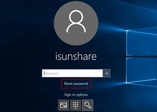 open password reset wizard on locked computer