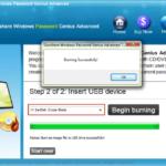 burn iSunshare program into USB successfully