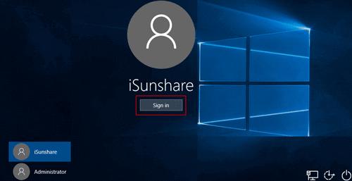 bypass administrator password to login windows 10