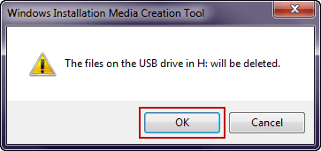 format removal device before media creation