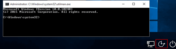 run command prompt on login screen