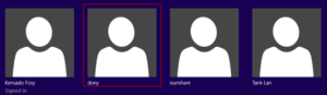 select local account to login Windows 8