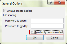 read only excel 2010 remove