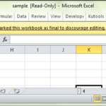 click edit anyway to remove read only in excel file