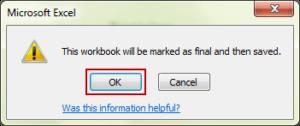 save workbook after mark as final