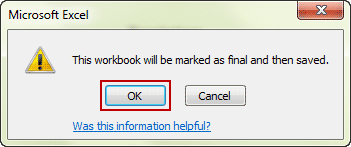 save workbook after mark as final
