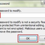 confirm excel workbook modify password