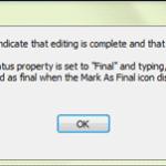 get notification after mark as final