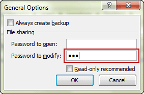 set password to restrict changes on excel workbook