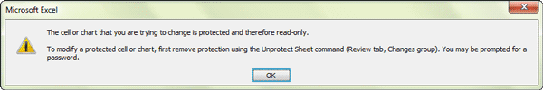 successfully set excel read only by worksheet protection