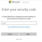 verify identity via security code