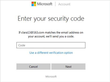 verify identity via security code