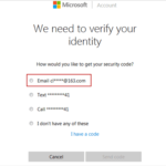 verify your Windows Live ID identity