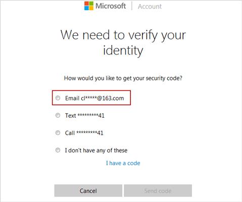 verify your Windows Live ID identity