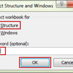 enter password to unprotect workbook structure