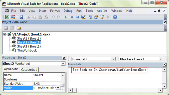 hide or unhide multiple sheets with VBA code