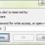 open protected workbook 2010 in read-only mode
