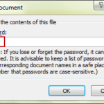 remove workbook open password protection