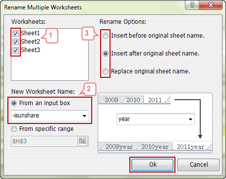 specify worksheet new name settings