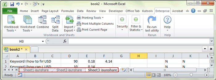 successfully rename multiple worksheets with Kutools for Excel