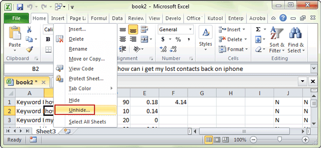 3 Methods to Hide or Unhide One or Multiple Sheets in Excel 2016 – Unhide Worksheet Excel 2010