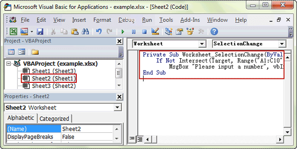How to Add or Delete Popup Message Box to Excel Cell iSunshare Blog – Delete Worksheet Vba