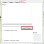choose picture as fill effects