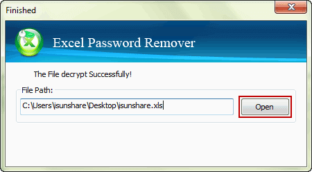successfully disable excel file forgotten password to open