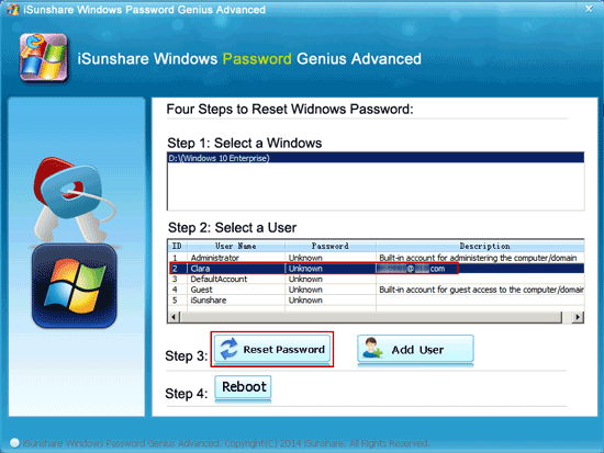 change email account login password with disk