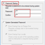 change windows 10 startup password