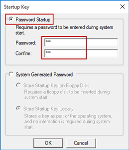 change windows 10 startup password