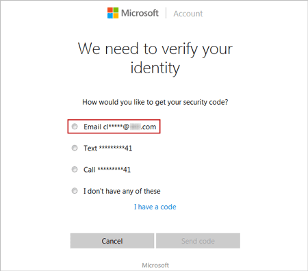 choose email account verification way