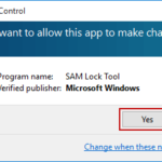 run SAM Lock Tool in Windows 10