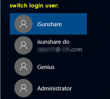 switch user on windows 10 login screen