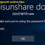 tips for microsoft account password reset