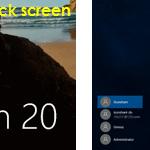 windows 10 lock screen and login screen