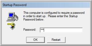 windows 10 startup password