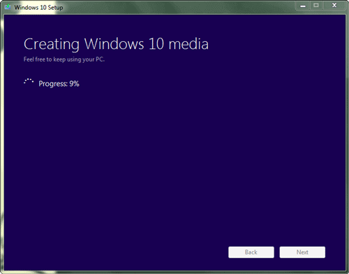 create windows 10 installation media with usb