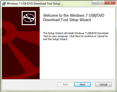 prepare windows 7 usb dvd download tool