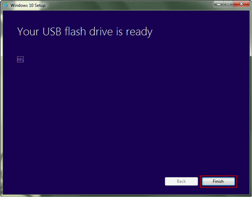 successfully create a bootable usb with windows creation tool