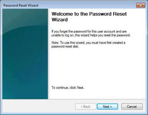 reset windows 7 password with windows 7 password reset disk
